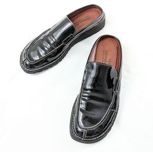 Donald J Pliner Slip On Leather Flats - Black